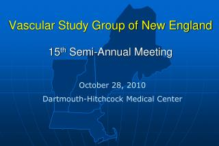 Vascular Study Group of New England 15 th  Semi-Annual Meeting