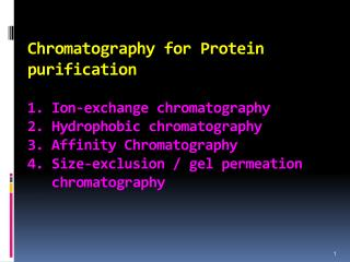 Ion exchange chromatography