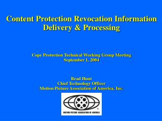 Content Protection Revocation Information Delivery & Processing
