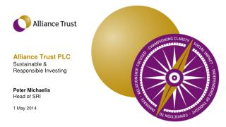 Alliance Trust PLC Sustainable &  Responsible Investing