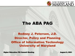 The ABA PAG