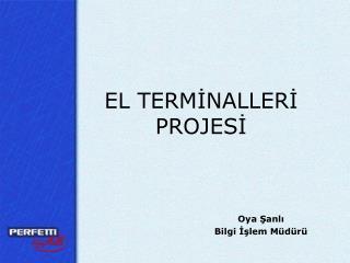 EL TERMİNALLERİ  PROJESİ