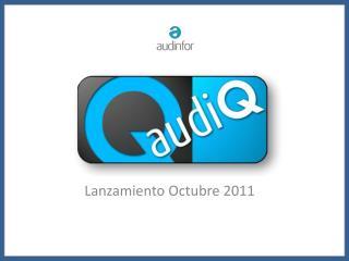 Lanzamiento Octubre 2011
