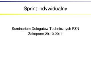 Sprint indywidualny
