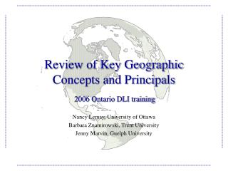 Review of Key Geographic Concepts and Principals