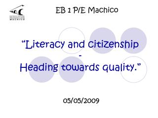 EB 1 P/E Machico