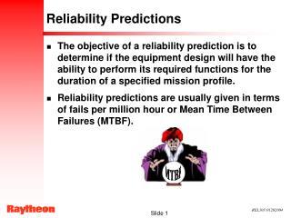 Reliability Predictions