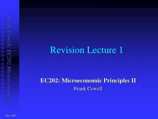 Revision Lecture 1