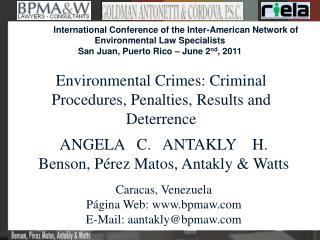 ANGELA   C.   ANTAKLY    H. Benson, Pérez Matos, Antakly & Watts