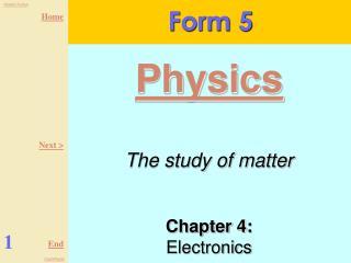 Chapter 4:  Electronics