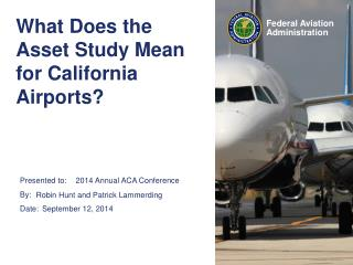 What Does the Asset Study Mean for California Airports?