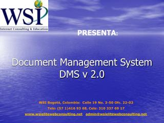 Document Management System DMS v 2.0