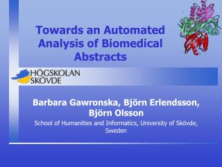 Towards an Automated Analysis of Biomedical Abstracts