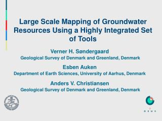 Large Scale Mapping of Groundwater Resources Using a Highly Integrated Set of Tools