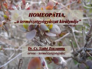"""HOMEOPÁTIA, """"a természetgyógyászat királyn ő je"""""""