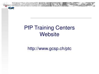 PfP Training Centers Website