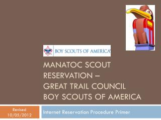 Manatoc scout reservation – great trail council boy scouts of America