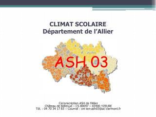 CLIMAT SCOLAIRE Département de l'Allier