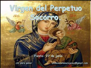 Virgen del Perpetuo Socorro.