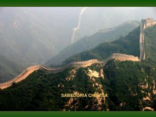 SABEDORIA CHINESA