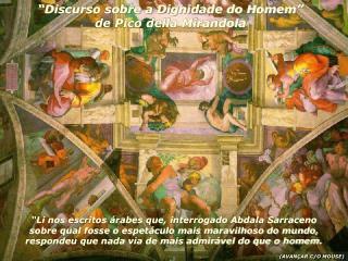 """Discurso sobre a Dignidade do Homem"" de Pico della Mirandola"