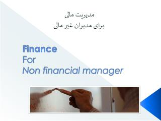 Finance For Non financial manager