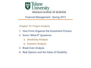 Chapter 10: Project Analysis