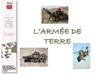 L'ARMÉE DE TERRE
