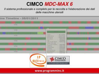 CIMCO  MDC-MAX 6