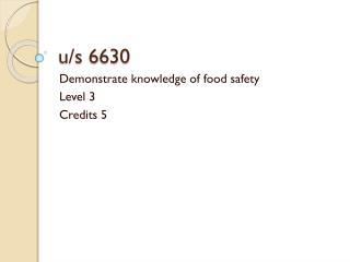 u/s 6630