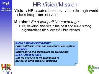 HR Vision/Mission