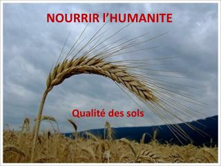 NOURRIR l'HUMANITE