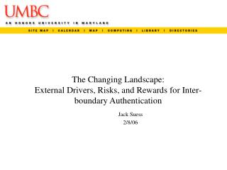 The Changing Landscape: External Drivers, Risks, and Rewards for Inter-boundary Authentication