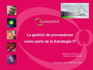 La gestión de proveedores como parte de la Estrategia IT