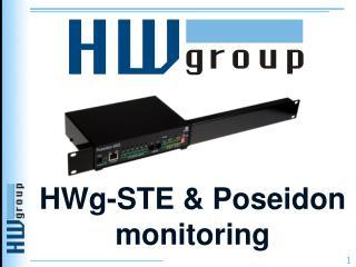 HWg-STE & Poseidon monitoring