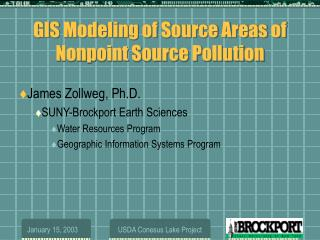 GIS Modeling of Source Areas of Nonpoint Source Pollution