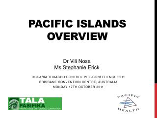 Pacific Islands Overview