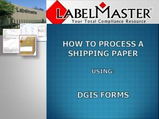 DGIS Forms