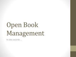 Open Book Management