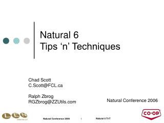 Natural 6 Tips 'n' Techniques