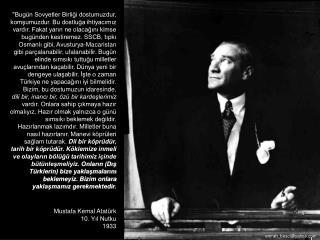 Mustafa Kemal Atatürk 10. Yıl Nutku 1933