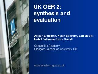 UK OER 2: synthesis and evaluation