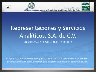 Representaciones y Servicios Analíticos, S.A. de C.V.