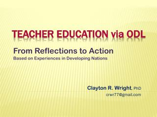 Teacher education  via  ODL