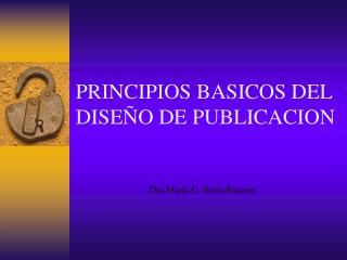PRINCIPIOS BASICOS DEL DISEÑO DE PUBLICACION