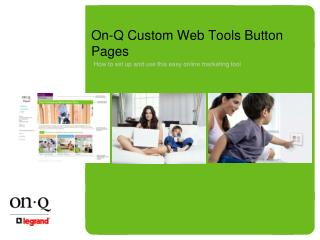 On-Q Custom Web Tools Button Pages