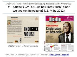 Univ.- Doz . Dr. Jérôme Segal, Institut für Soziologie,  jerome-segal.de