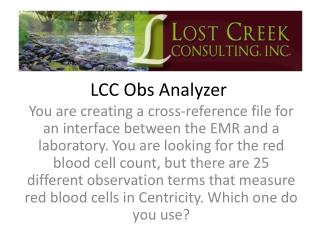 LCC  Obs  Analyzer