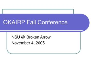 OKAIRP Fall Conference