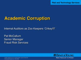 Academic Corruption